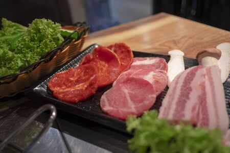 Sliced meat Clean, fresh and appetizing