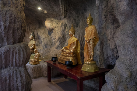 The Buddha statue in Chainat Province of Thailand 新聞圖片
