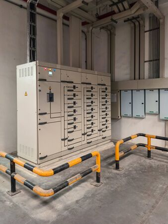 Electric control cabinet substation in factory plant