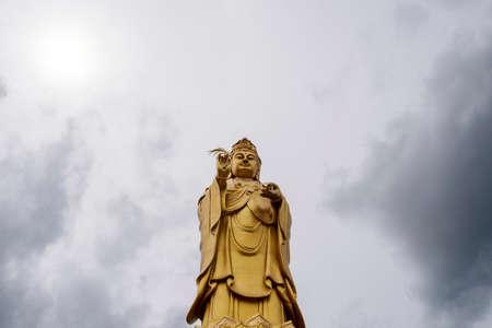 Golden guan yin in Thailand
