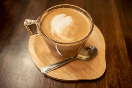 Close up white coffee cup Standard-Bild
