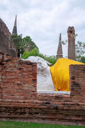 The Buddha statue in Ayutthaya Province of Thailand Standard-Bild