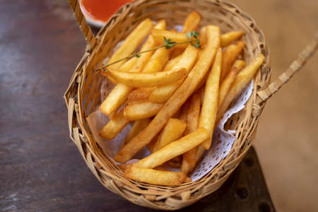 Home made organic Fresh fried French fries