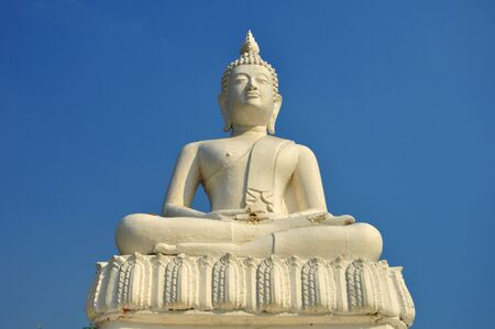 White Buddha statue Stock Photo - 12092664