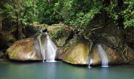 erawan waterfall in Thailand photo