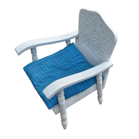 Classic blue chair on a white background photo