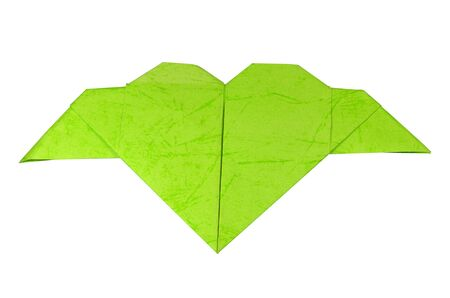 green paper heart photo