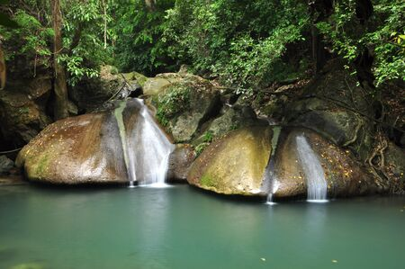 Erawan Waterfall in Thailand photo
