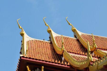 Thai lanna temple at Chiangmai province Thailand. photo
