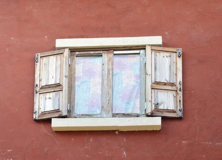 beautiful old window in italian style Stock Photo - 13242619