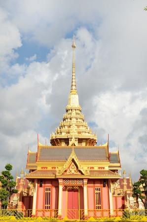 Thai royal funeral and Temple in bangkok thailand photo