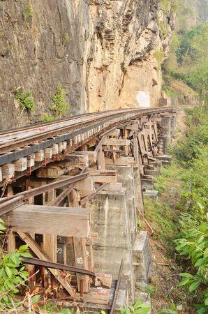 railway on Kwai river in Thailand photo