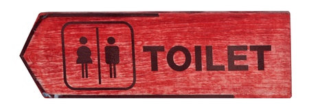 toilet plate sign on orange wall Stock Photo - 13505811