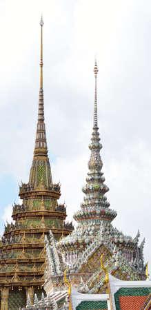 Wat Phra Kaews Pagodas From the Grand Palace of Thailand photo