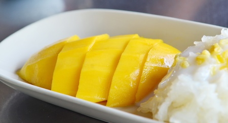 Sticky Rice Mango Thai Dessert photo