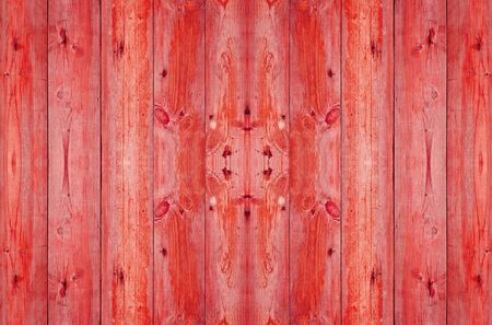 old wood plank in red color photo