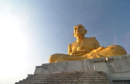 Big Golden Buddha with sky, thailand photo