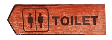 toilet plate sign on orange wall Stock Photo - 13589392