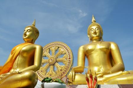 Golden Buddha statue at Wat Muang in Angthong, Thailand Stock Photo - 13862442