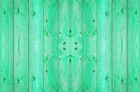 old wood plank in green color photo