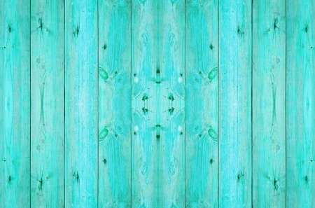 old wood plank in blue color photo