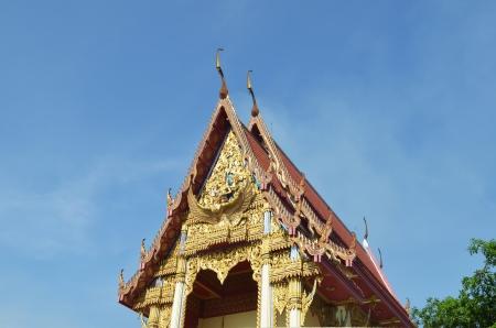 Temple in Lotus Leaf at Wat Muang,Angthong Thailand photo