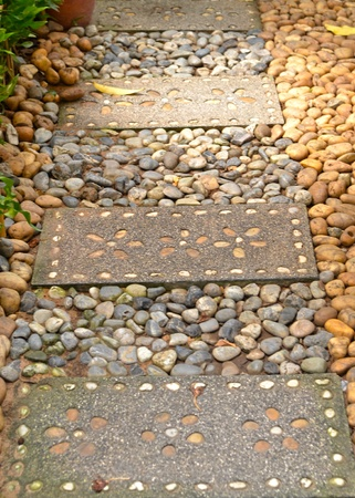 redbrick: Closeup texture of stones and slabs for garden decoration