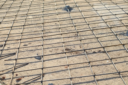 Concrete pouring during commercial concreting floors of buildings in construction photo