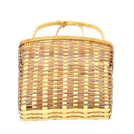 Basket isolated on white background photo