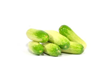 fresh cucumbers isolated on white photo
