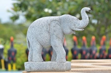 goodluck: elephant statue for goodluck Stock Photo