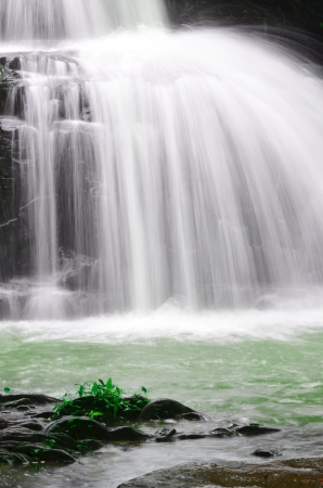 Waterfall closeup photo