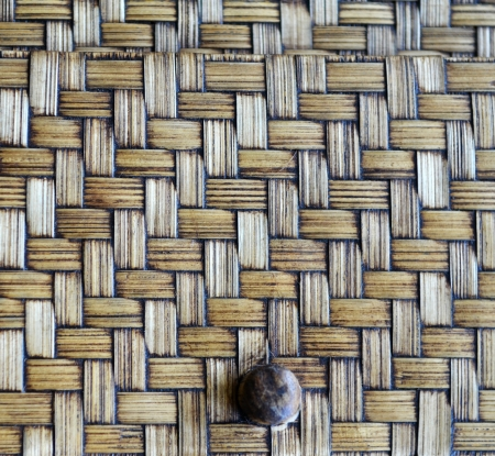 Brown wicker texture as background photo
