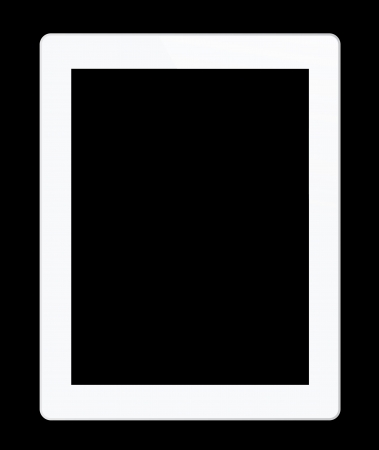 Tablet and picture on black background Stock Photo - 15160476