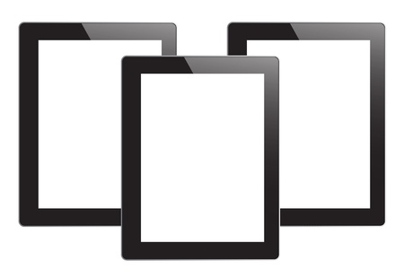 tablet pc on white background Stock Photo - 15160482