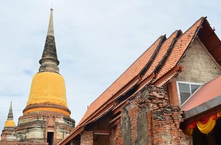 ayuthaya: old Temple Wat Yai Chai Mongkhon of Ayuthaya Province Thailand