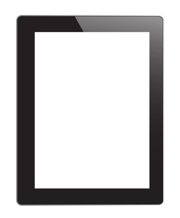tablet pc on white background photo