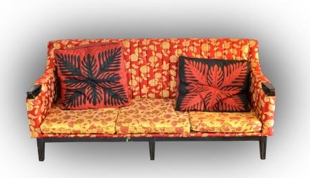 old luxury leather sofa isolated Stock Photo - 15674450