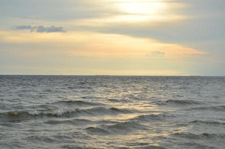 pattaya: Beautiful sunset on the beach in Pattaya, Thailand