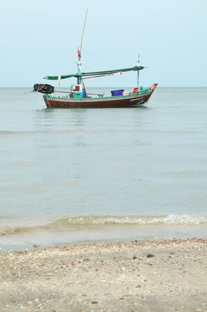 Fishing trawler on the water, Thailand photo