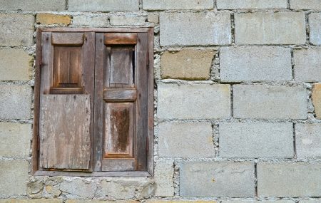 Old brick wall with window Stock Photo - 15770737