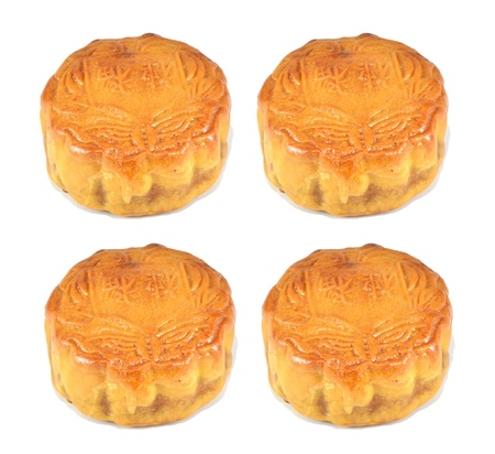 moon cake for chinese mid autumn festival photo