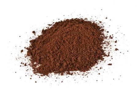 coffee powder on the white background