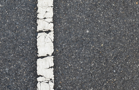 asphalt road texture with white stripe photo