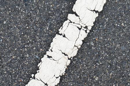 asphalt road texture with white stripe Stock Photo - 15901033