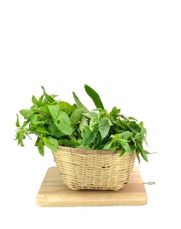 fresh green vegetables isolated on white Stock Photo - 16013995