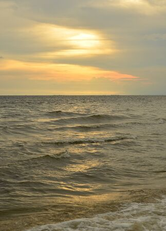 Beautiful sunset on the beach in Thailand Stock Photo - 16767869