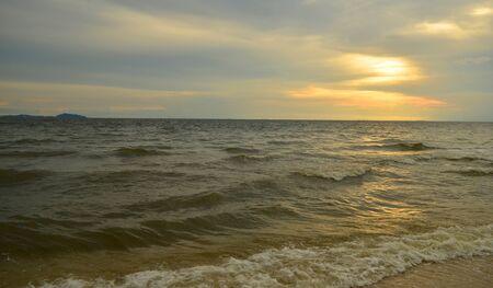Beautiful sunset on the beach in Thailand Stock Photo - 16767870