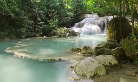 falling tide: Emerald waterfall