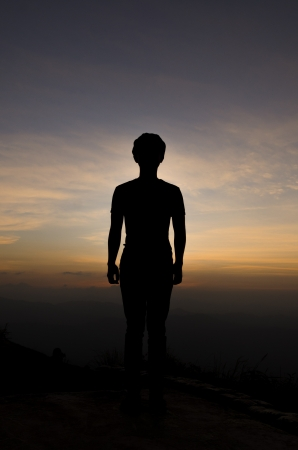 Silhouette of a Man photo
